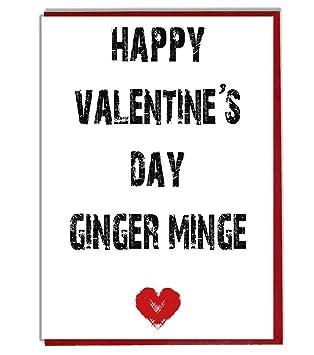 Feliz día de San Valentín Ginger Minge - Funny/grosero ...