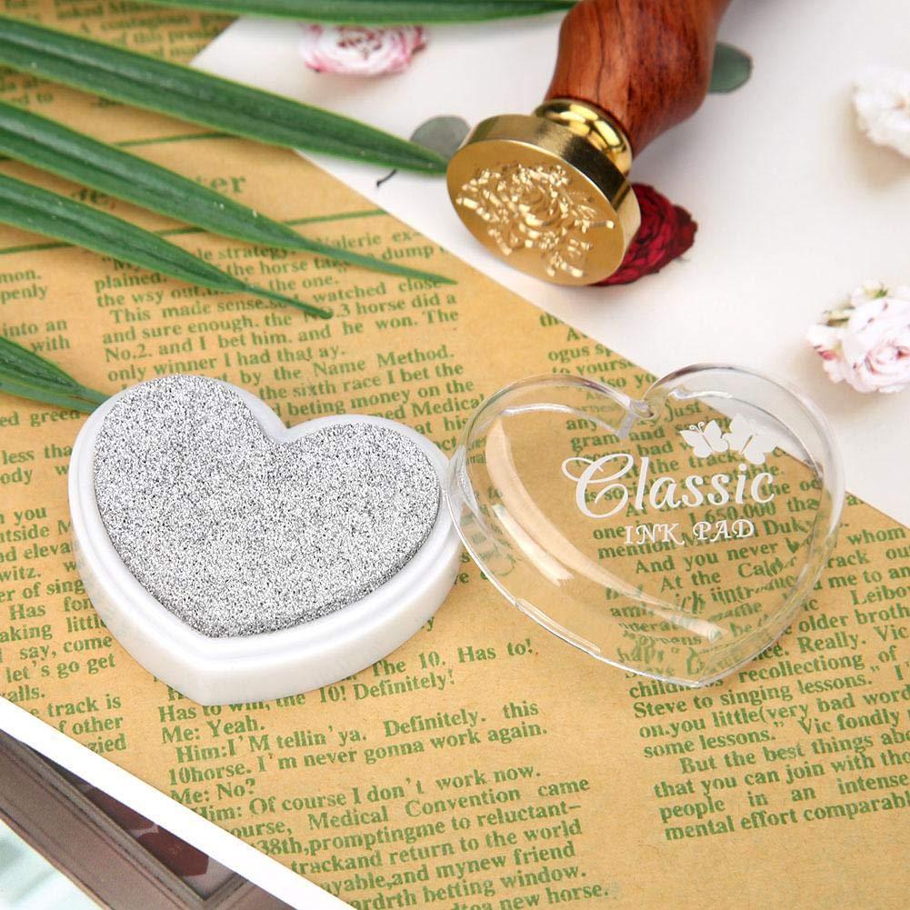 vanpower Tampon dencre en Forme de c/œur pour Scrapbooking 4.5x3.5x1.5cm//1.77x1.38x0.59in Cartes Papier et Loisirs cr/éatifs Violet