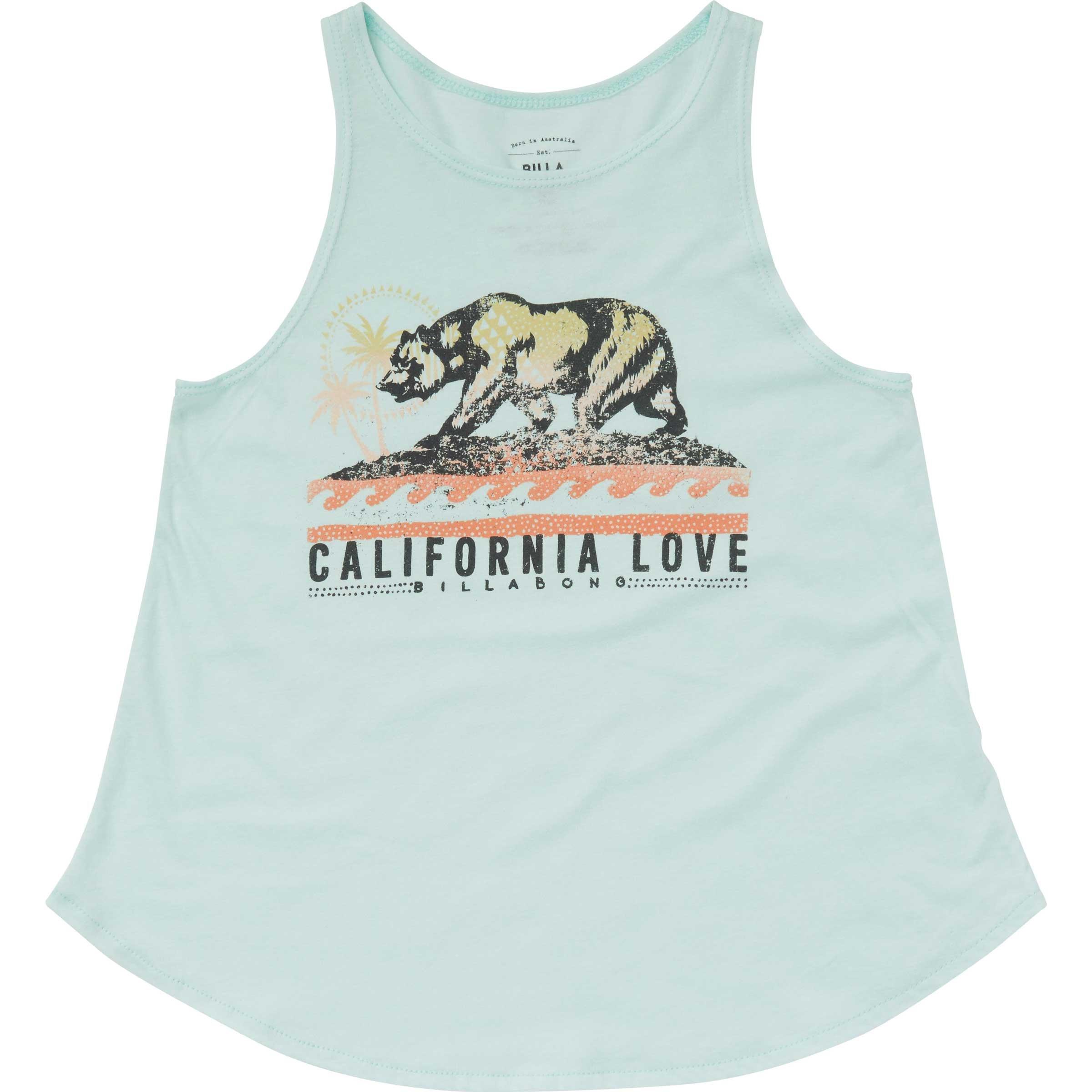 Billabong Big Girls' Love Cali Bear Tank, Beach Glass, XXS