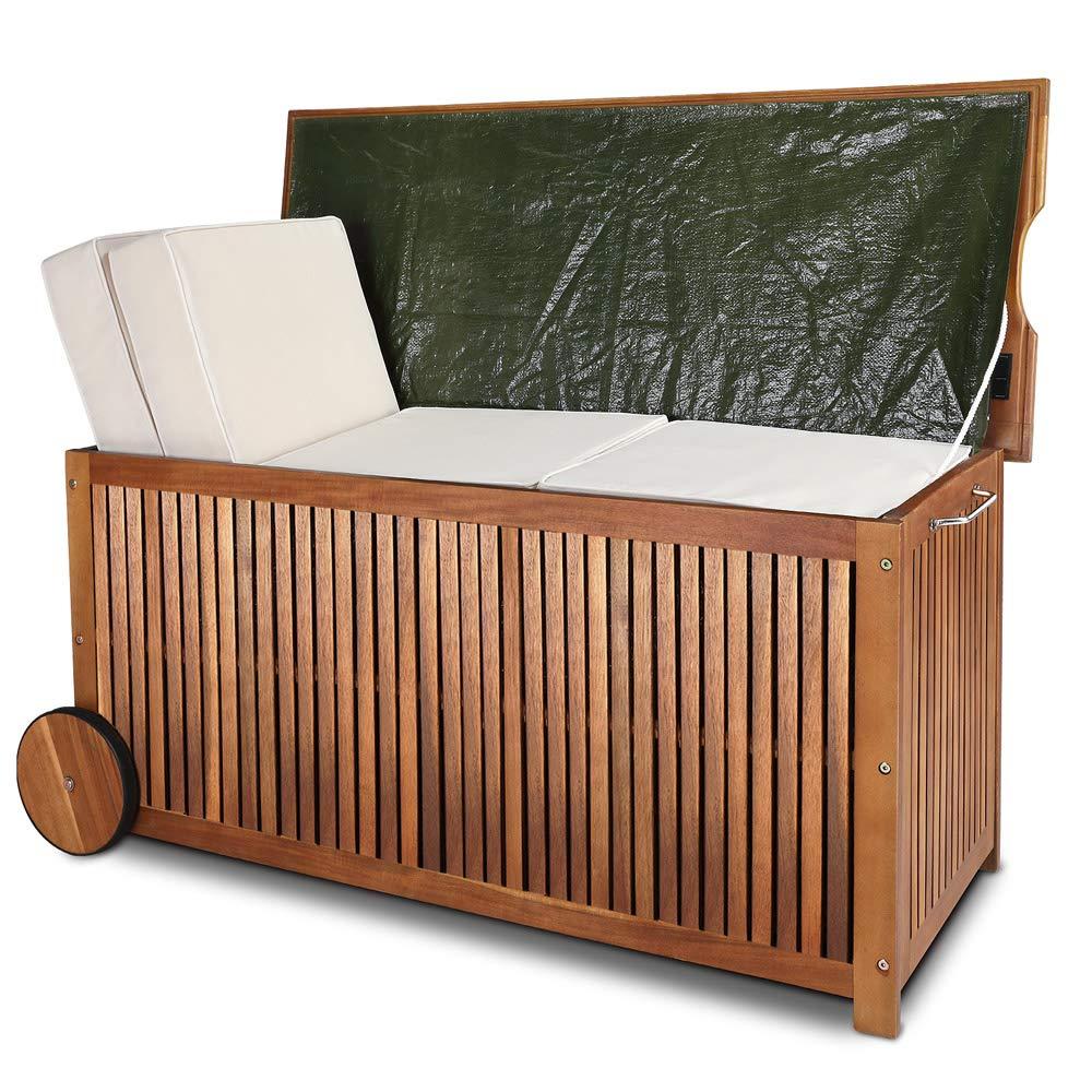 *Deuba Gartenbox Holz mit Rädern*