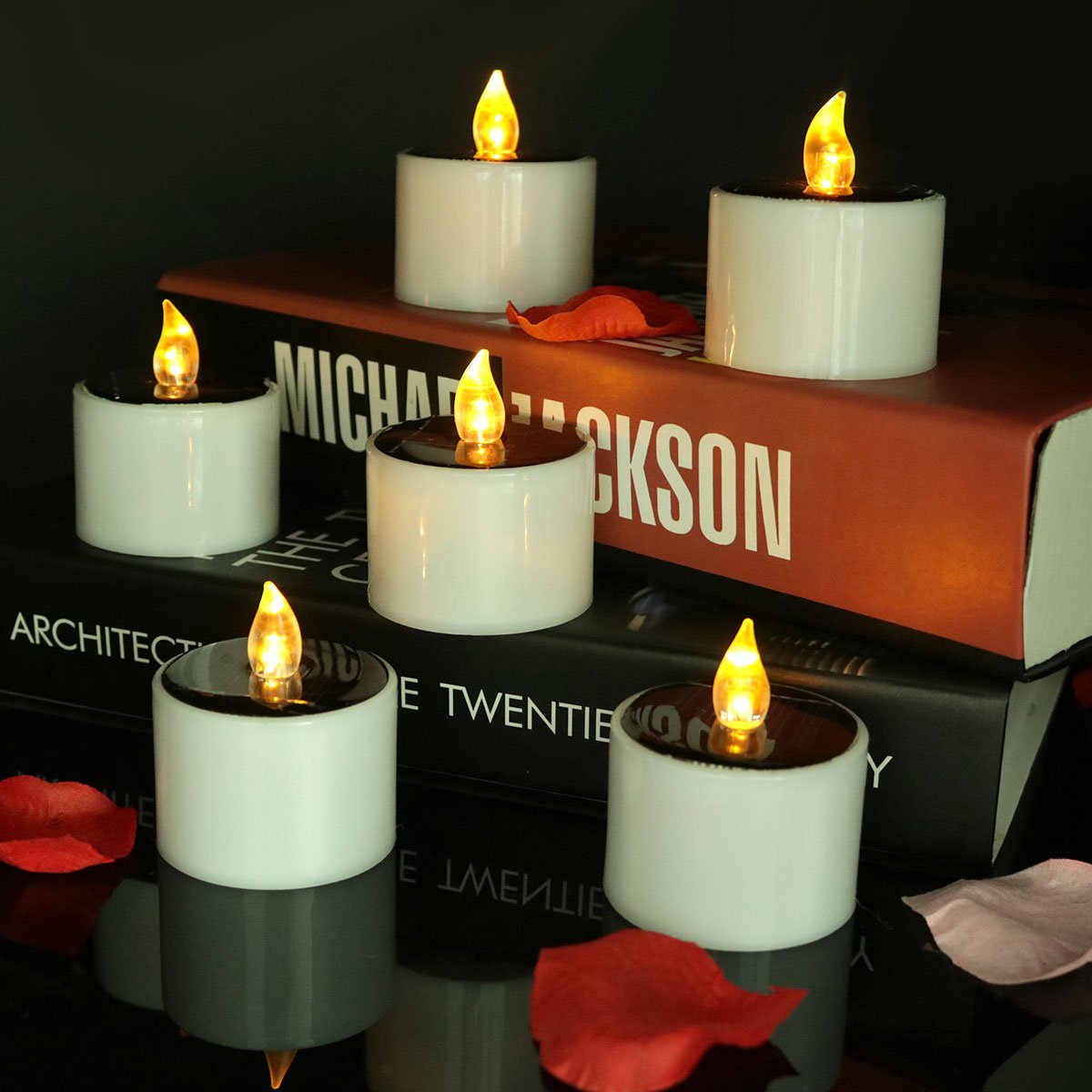 Micandle Outdoor 6 Pack Solar Candles