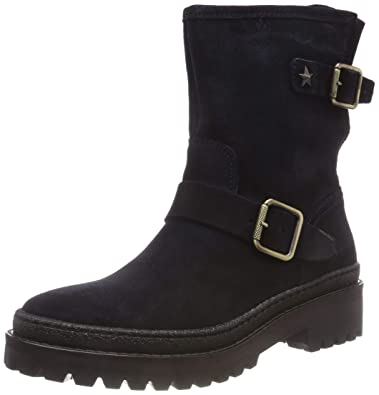 4df42925228a Tommy Hilfiger Women s Basic Biker Boot Suede  Amazon.co.uk  Shoes ...