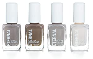 Eternal 4 Collection – Set of 4 Nail Polish: Long Lasting, Mirror Shine, Quick Dry, Neutral Colors (Beach Walk)