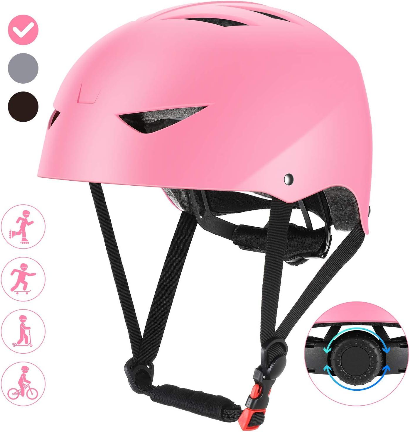 ValueTalks Casco Bicicleta Infantil con ajustador para Monopatín Patinaje BMX Esquiar,Apto para los niños de 6-15 años