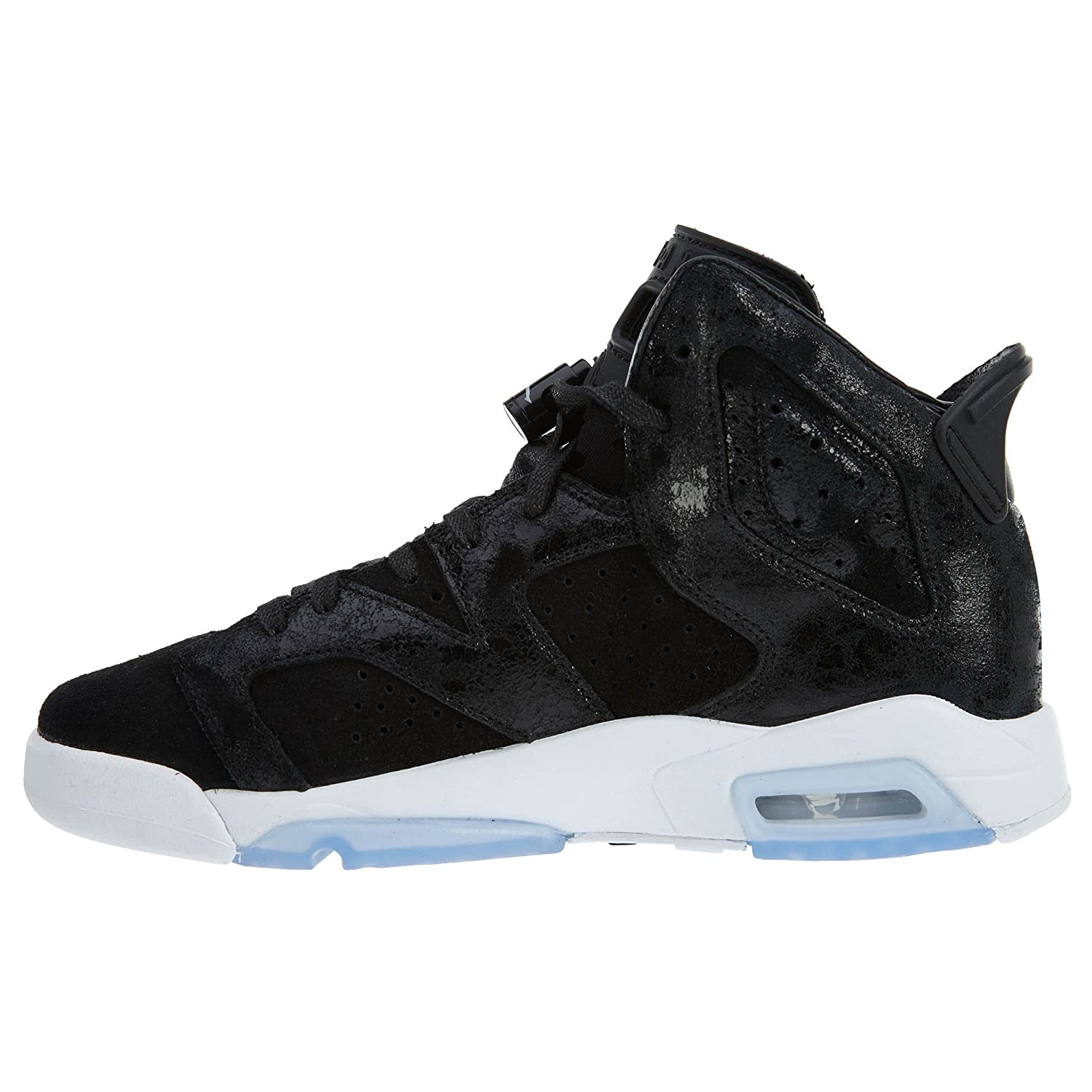 huge selection of 0173c fd77f Amazon.com  Jordan Big Kids Girls  Air Jordan 6 Retro Premium Heiress  Collection GS black black-white-gym red Size 9.0 US  Jordan  Shoes