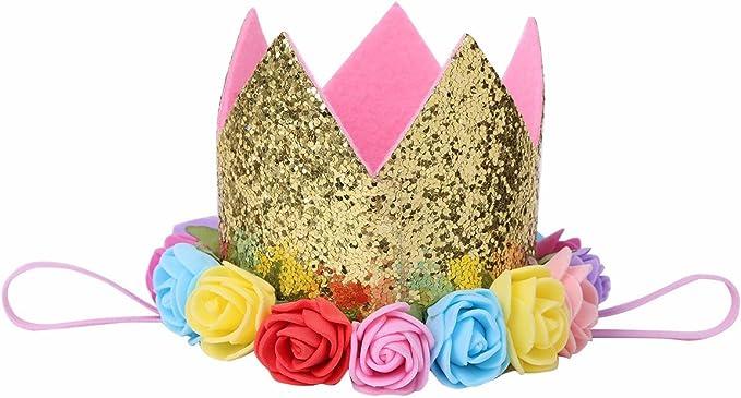 Amazon.com: iiniim – bebé primer cumpleaños flor de rosa ...