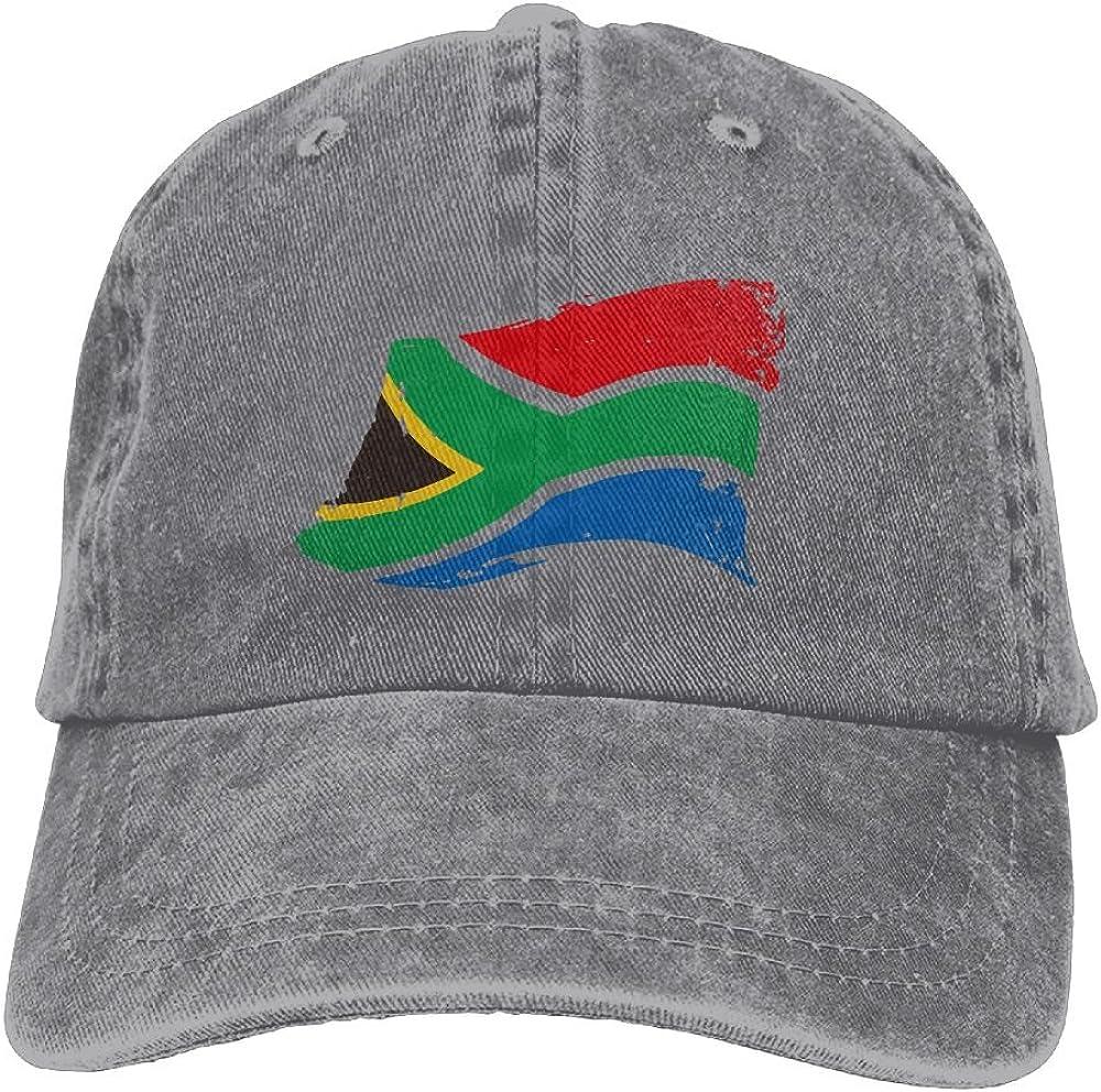 Adult Fashion Cotton Denim Baseball Cap Africa Map Classic Dad Hat Adjustable Plain Cap