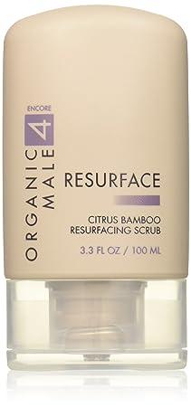 Organic Male OM4 Encore Resurface Citrus Bamboo Resurfacing Scrub 3.3 oz Organic Natural Exfoliating Facial Scrub