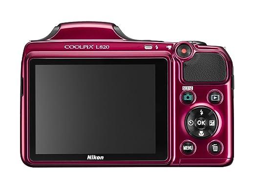amazon com nikon coolpix l820 16 mp cmos digital camera with 30x