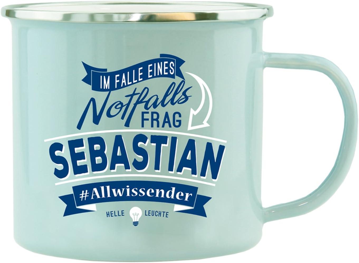 Chrom-Schriftzug Tasse mit Namen Sebastian
