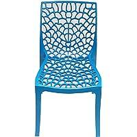 Parvesh Smart Web Chair | Heavy Plastic Chair for Home & Garden (Set 01, Blue)