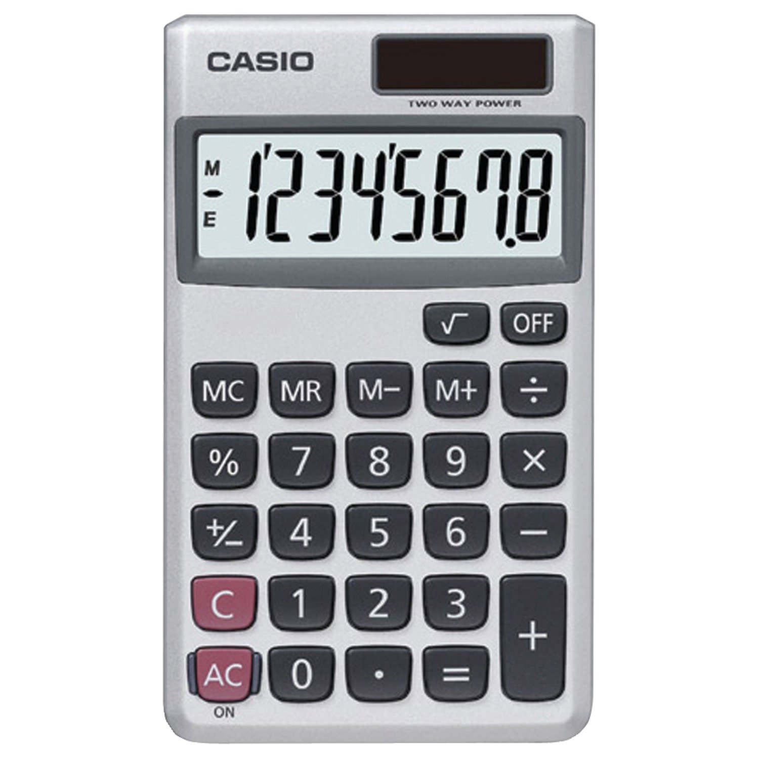com casio sl 300sv solar powered standard function  com casio sl 300sv solar powered standard function calculator basic office calculators electronics