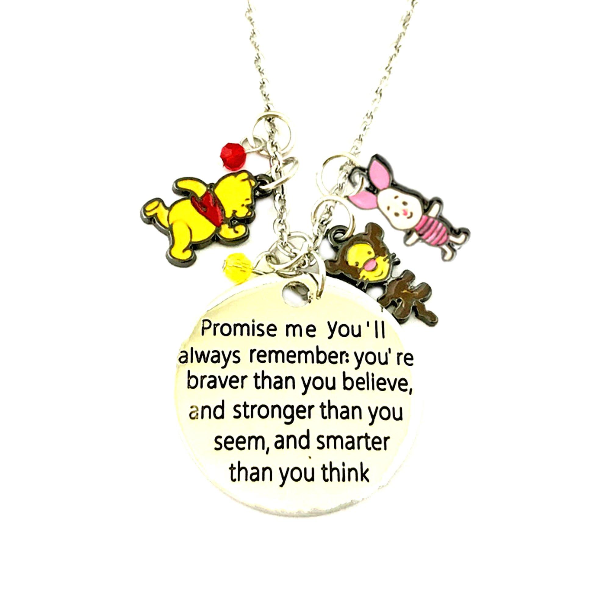 Outlander Brand Winnie the Pooh Disney Cosplay Premium Quality 18'' Pendant Necklace w/Gift Box