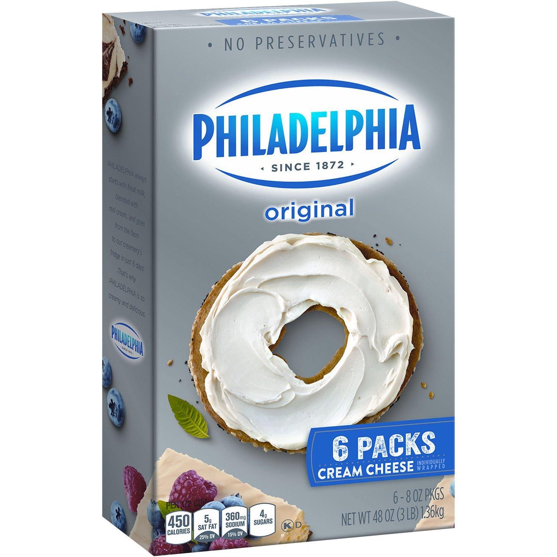 Kraft Philadelphia Cream Cheese 8 Oz Pkg 6 Ct