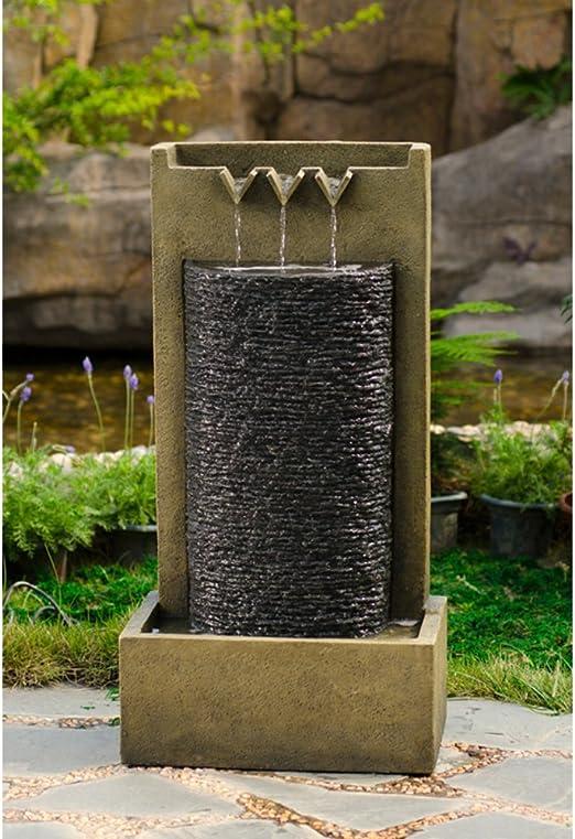 Jeco – Muro de Piedra Interior Exterior Fuente de Agua: Amazon.es: Jardín