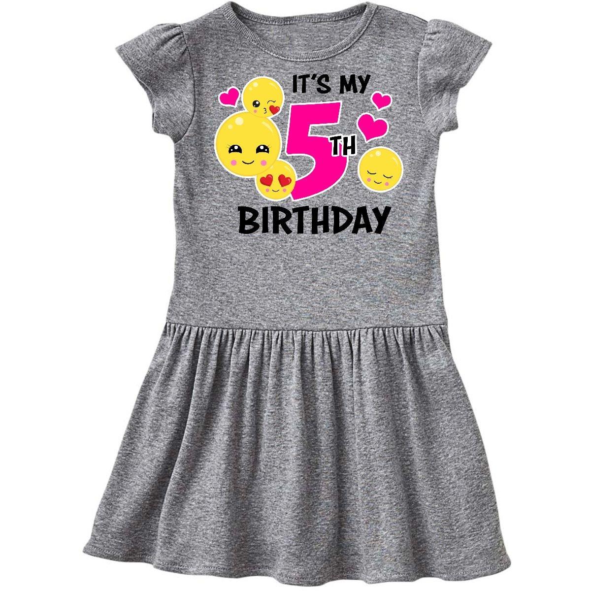 d9f121e7401 inktastic - Its My 5th Birthday Emojis Toddler Dress 14-196261-198 ...