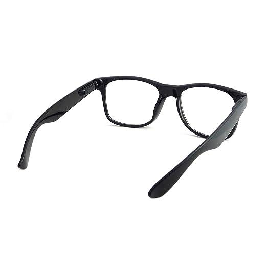 03e1add5e3 Amazon.com  KIDS Childrens Nerd Retro Oversize Black Frame Clear Lens Eye  Glasses (Age 3-10)  Clothing