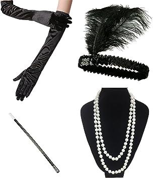 """Anni 1920 20 Perline Anni/'20 Charleston Costume 72 /""""Faux Pearl COLLANA"""