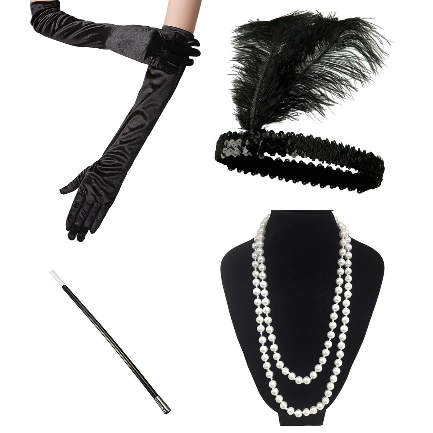 iLoveCos Womens 1920s Fashion Great Gatsby Flapper Costume Accessories