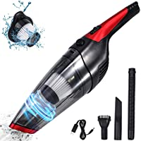 Fityou Handheld Vacuum Cordless, Upgraded 5800PA Super Suction Power Car Vacuum for Wet & Dry Clean, Portable Vacuum…
