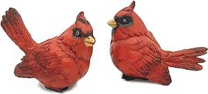 FICITI G105394 Cardinal Figurine Birds Decoration - Set of 2-4 Inches High