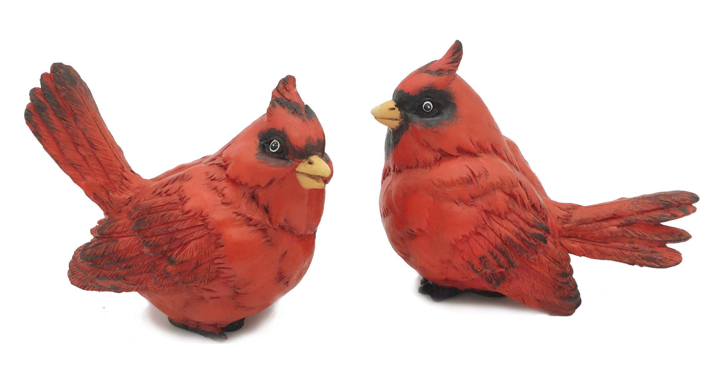 FICITI G105394 Cardinal Figurine Birds Decoration - Set of 2-4 Inches High