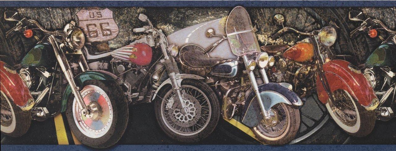 Vintage Motorcycles Black OA4012B Wallpaper Border