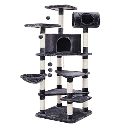 Amazon.com : FEANDREA Multi-Level Large Cat Tree Cat ...