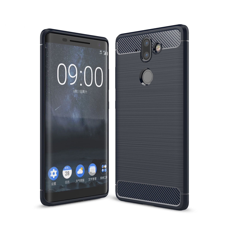 finest selection 6d7e3 690c5 AVIDET Nokia 8 Sirocco Case, Lightweight Slim Soft Carbon Fiber TPU ...