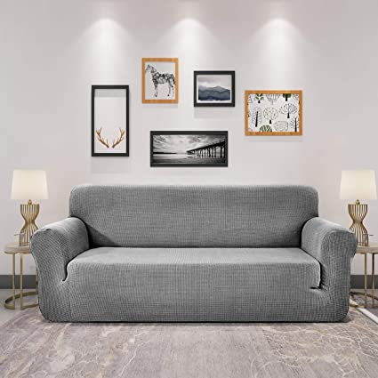 Groovy Sofia Casa Jacquard Sofa Slipcover 1 Piece Soft Elastic Sofa Cover Couch Cover For Living Roomloveseat 57 70 Light Gray Andrewgaddart Wooden Chair Designs For Living Room Andrewgaddartcom