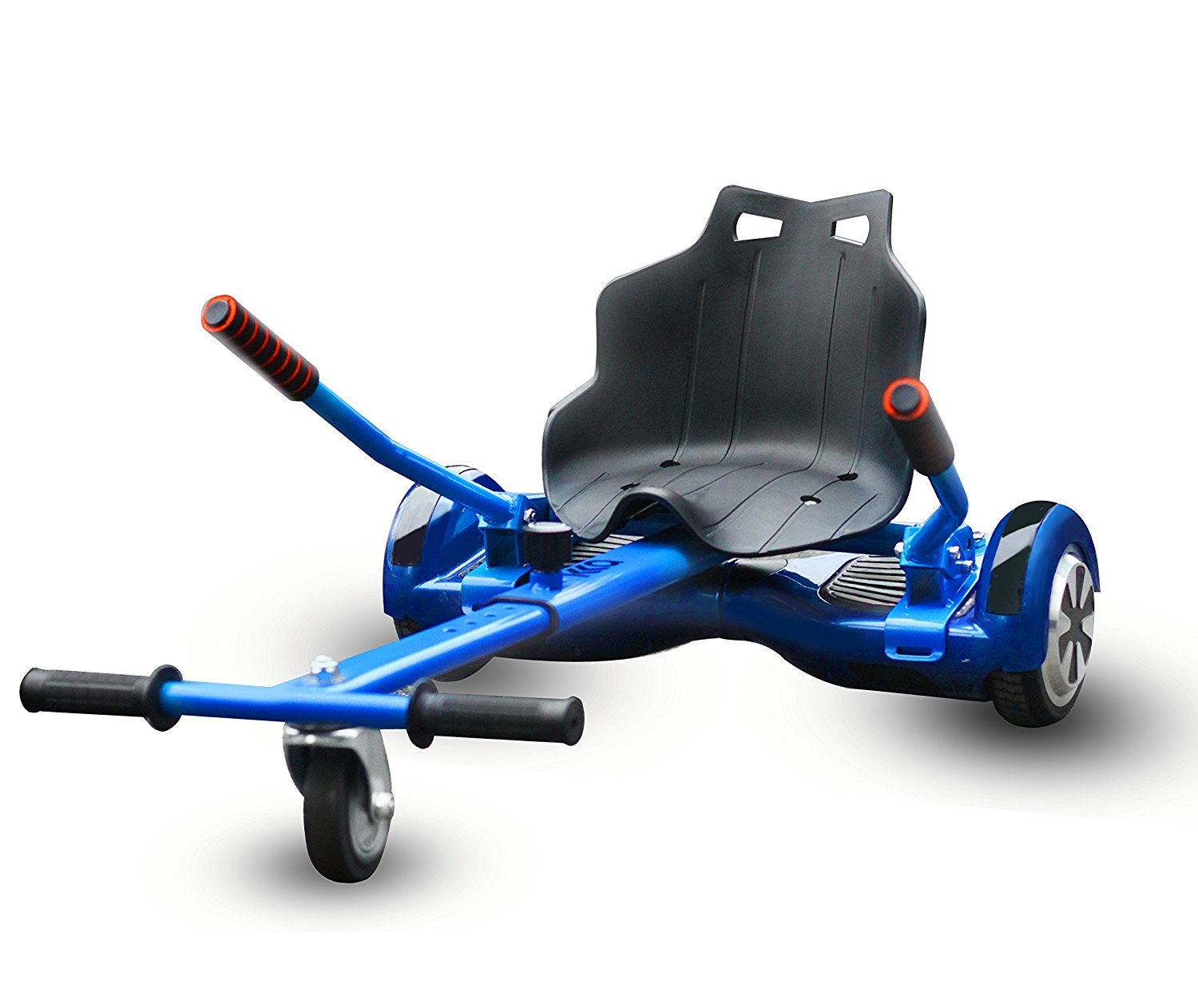 Hoverboard Seat Attachment, Go Kart, Hoverboard Go Cart Accessories, Heavy Duty Frame, Fun for Kids Fits 6.5''/8''/10'', Go Kart Conversion Kit For Hoverboard (Blue)