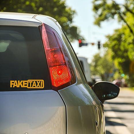 Amazon.com: BleuMoo 3Pcs Fake Taxi Sticker Vinyl Car Window Funny Decals: Kitchen & Dining