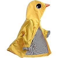YOUNGER TREE Toddler Baby Boy Girl Duck Raincoat Cute Cartoon Hoodie Zipper Coat Outfit