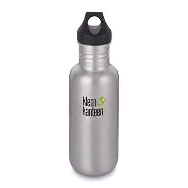 Klean Kanteen Classic Stainless Steel Water Bottle with Klean Coat, Single Wall and Leak Proof Loop Cap 2018