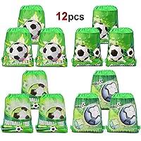 Howaf 12 Piezas Bolsas con cordón de fútbol