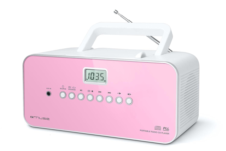 Muse M-21 PK - Radio (reproductor de CD, pantalla LCD), rosa y ...
