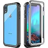 iPhone XR ケース 耐衝撃 360°全方向保護 米軍MIL規格取得 Qi充電対応 超軽量 クリア 防塵 傷·落下防止 高耐久ケース シンプル 6.1インチ(iPhone XR)