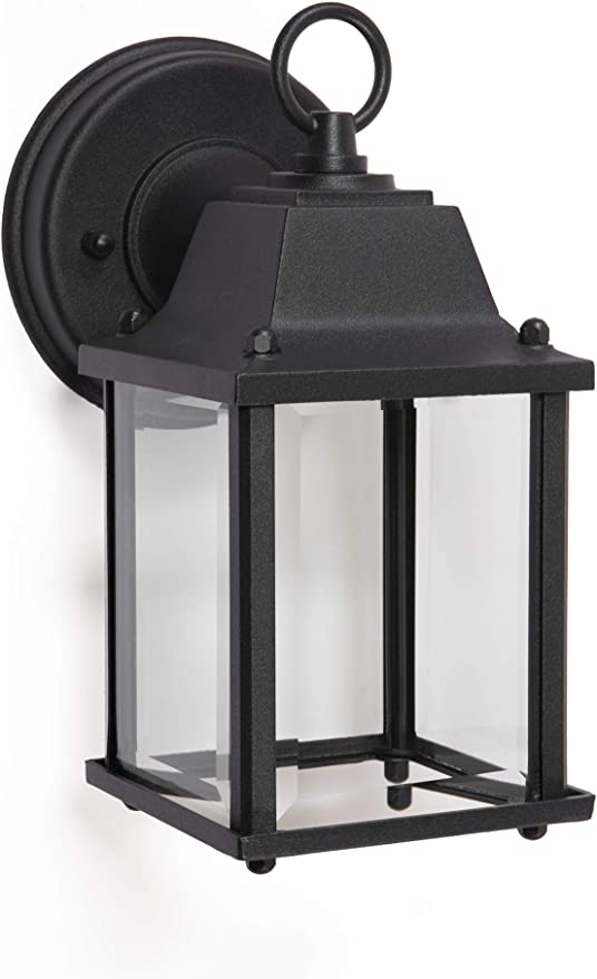 Amazon Com Coramdeo Outdoor Led Wall Sconce Light For Porch Patio Barn And More Wet Location Built In Led Gives 75w Of Light 800 Lumens 3k Durable Cast Aluminum With Black Finish