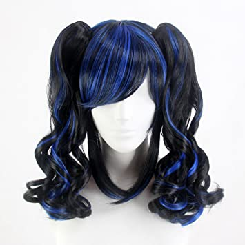 "Stfantasy Wigs for Women Medium Curly Heat Friendly Synthetic Hair 15.5"" 258g with Bangs Wig"