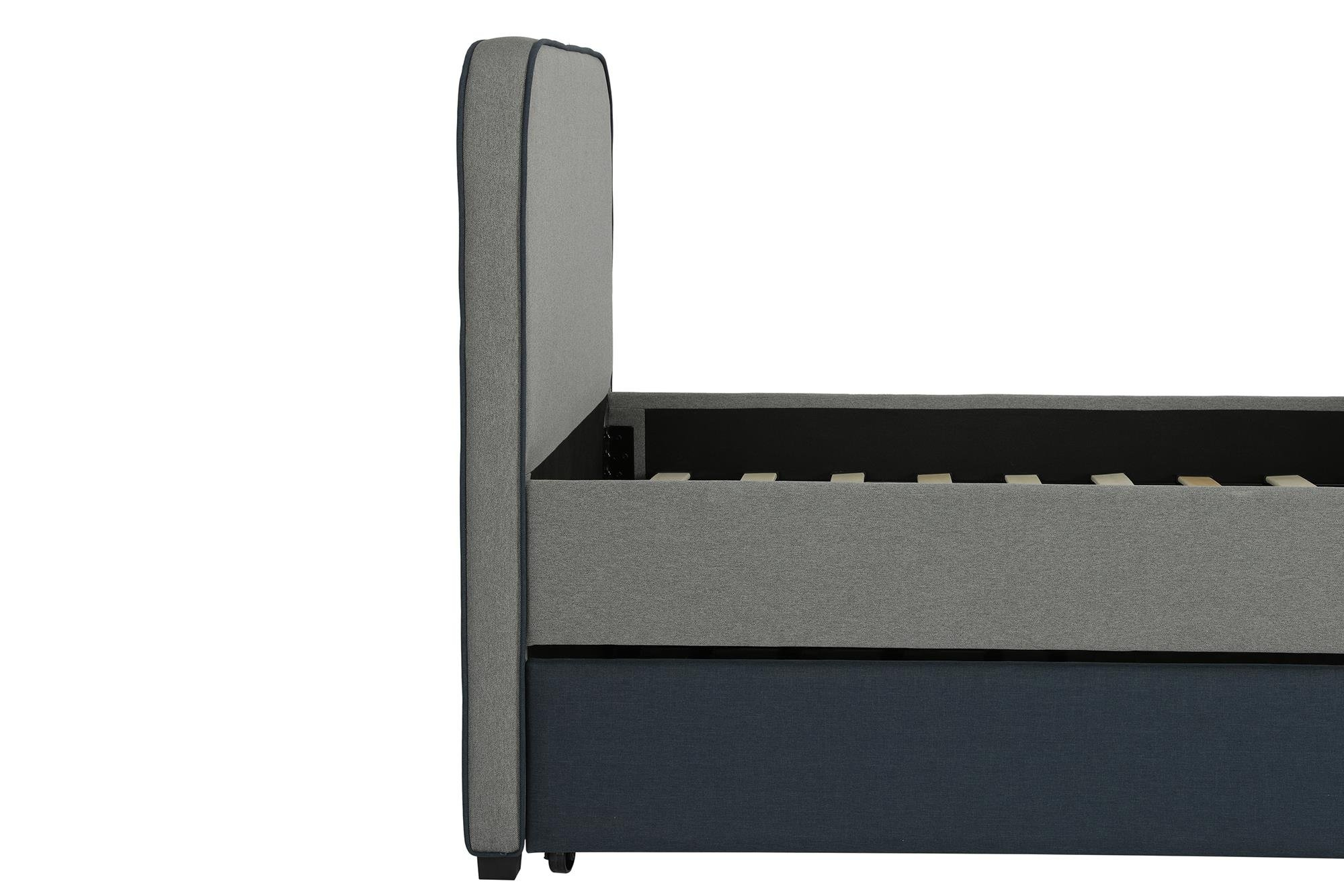 DHP Jesse Twin Kids Bed with Trundle in Gray Linen by DHP (Image #12)