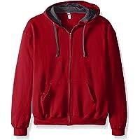 Fruit of the Loom Men's Full-Zip Hooded Sweatshirt-Extra Sizes, Cardinal