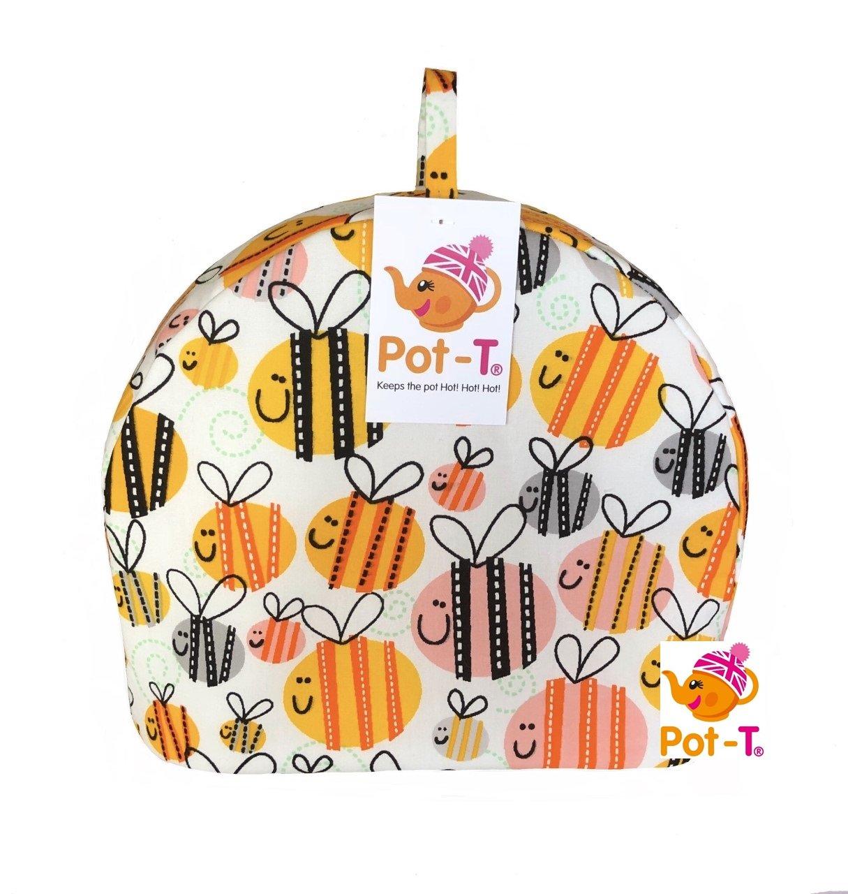 Pot-T INSULATED Tea Cosy Cozy in Buzzy Bees (Mini (16.5cm(h) x 8.5cm(d) x 20cm(l))) Coolcozycovers LTD