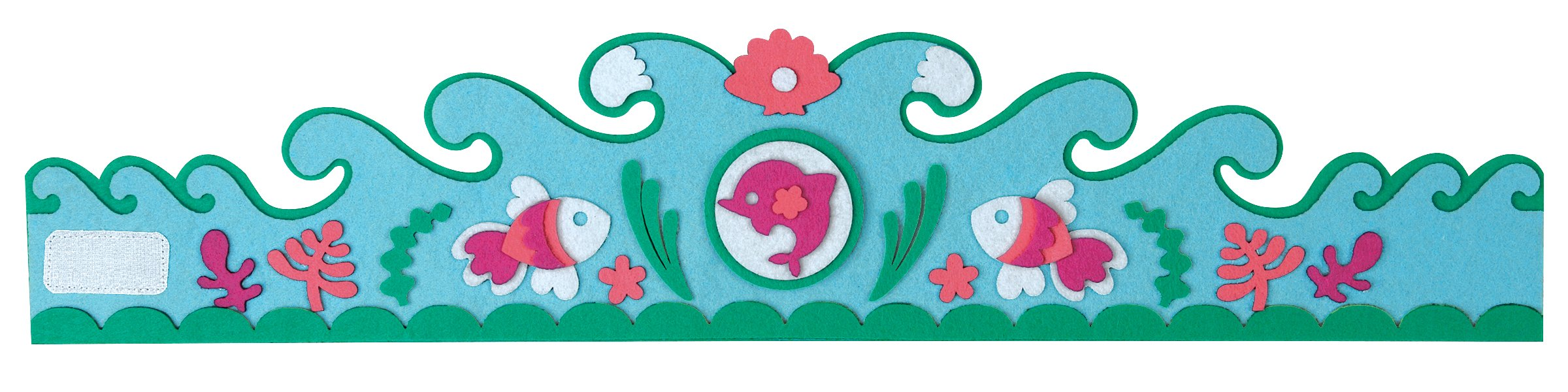 Mudpuppy Magical Mermaid Felt Crown Set