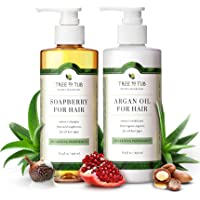 Sulfate Free Shampoo & Conditioner by Tree to Tub | The Only pH 5.5 Balanced Hypoallergenic Duo Using Wild Soapberry & Organic Argan Oil | Perfect for Sensitive, Oily, or Dry Hair and Scalp