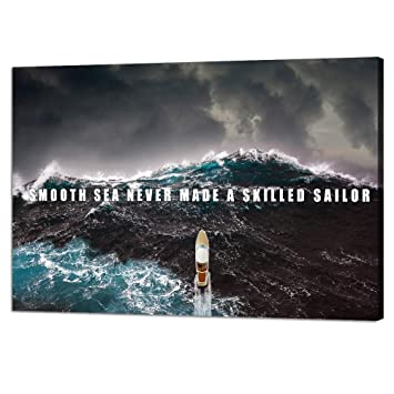"""Art Print /""""Attitude/"""" Office Motivational Quote Water Sunset 22/""""x28/"""" Poster NEW"""