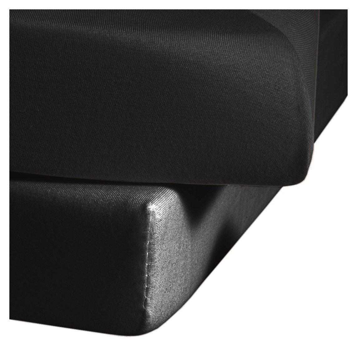 Fleuresse 1115-941 - Sá bana bajera de algodó n (150 x 200 cm), color negro 4043202102925