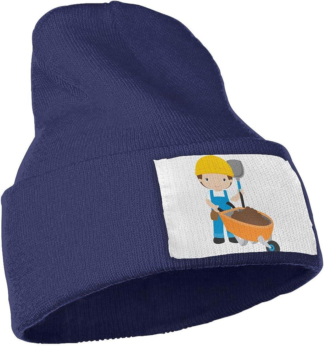 QZqDQ Cartoon Labourer Unisex Fashion Knitted Hat Luxury Hip-Hop Cap