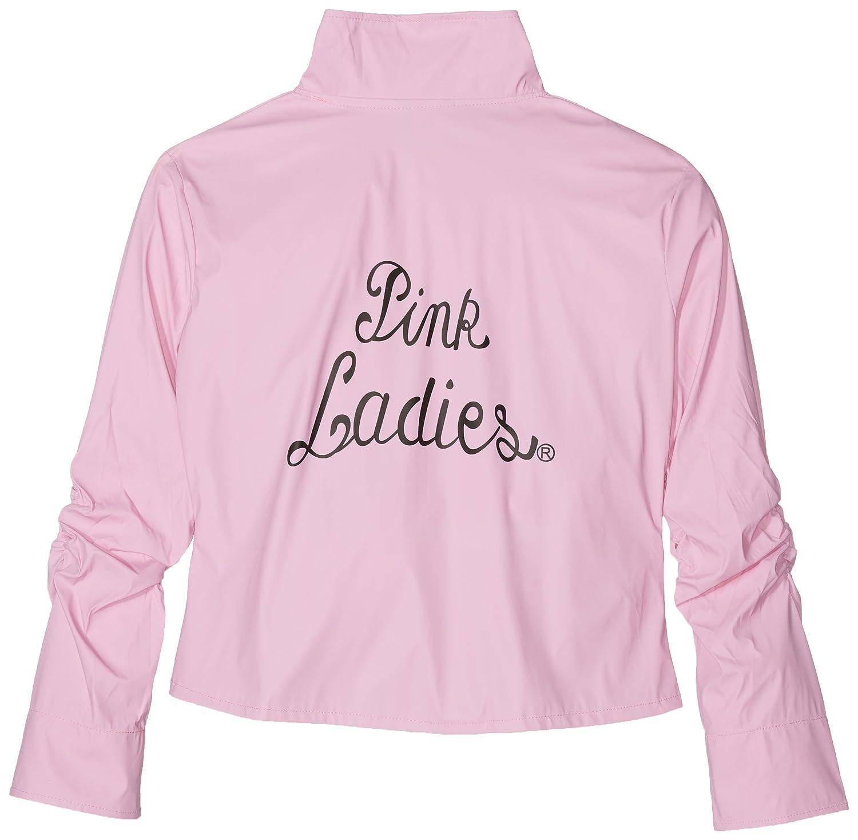 Ladies Deluxe Pink Grease Jacket Fancy Dress Costume