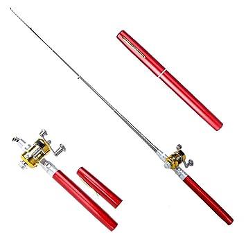 Mini Fish Pen Portable Pocket Shape Aluminum Alloy Fishing Rod Pole Reel