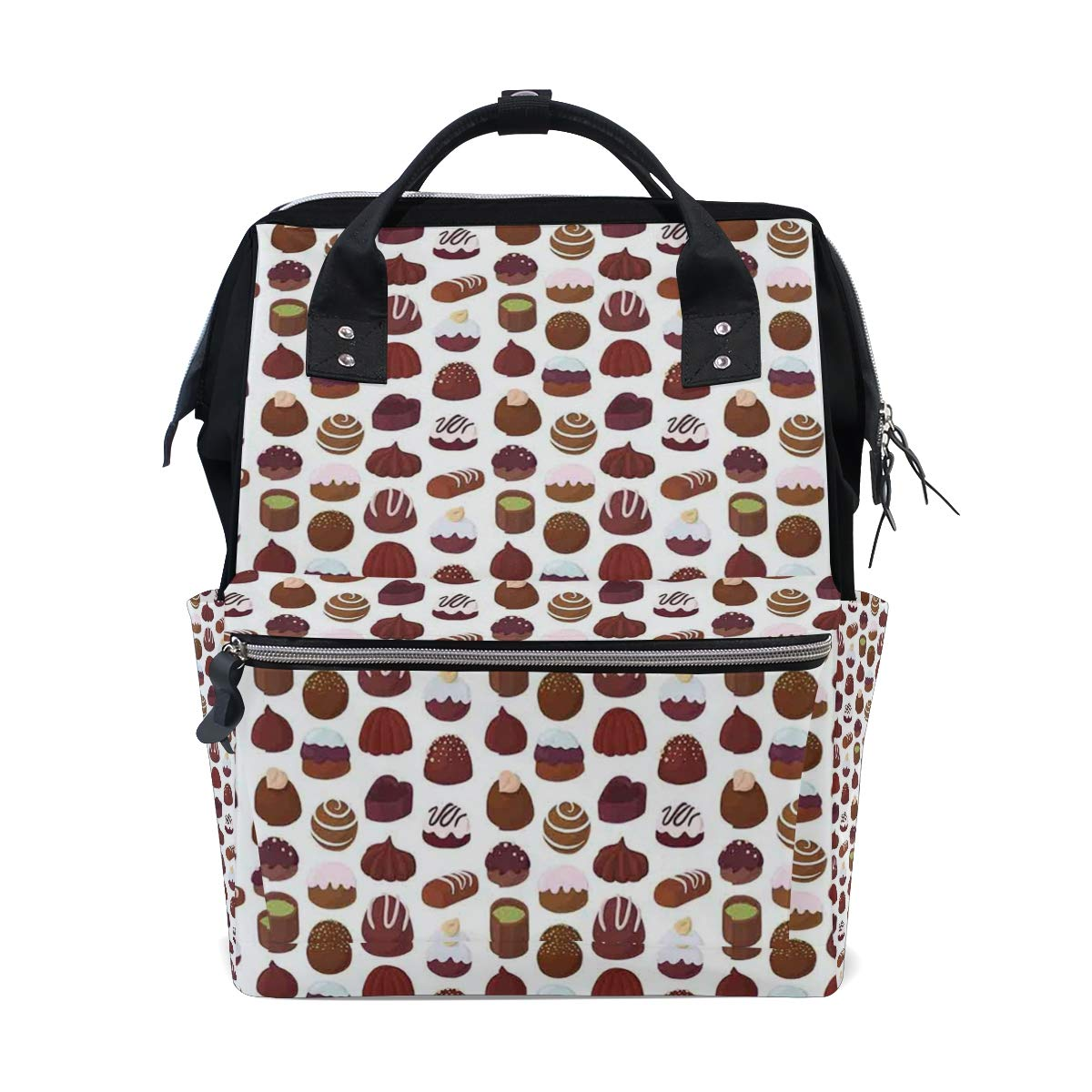 MIFSOIAVV Cupcake Muffin Donuts Cookie Candy Bakery Good Pastry Sweets School Travel Daypack by MIFSOIAVV